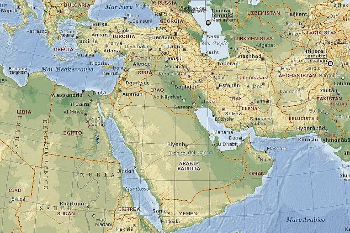 Medio Oriente Cartina Fisica.Medioriente Ancora Di Salvezza Del Capitalismo Italiano